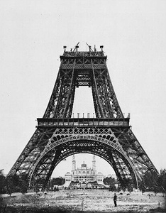 The Eiffel Tower being constructed (August 1887-89)