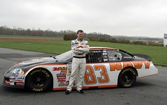 Dale Earnhardt Jr. and the No. 83 Navy Chevrolet in 2008.