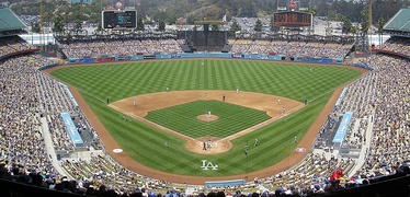 Dodger Stadium has been the Los Angeles Dodgers' home field since 1962.  Dodgers' Opening Day starting pitchers have a record there of nine wins, ten losses and five no decisions.