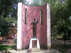 Statue of José José El Príncipe de la Canción (The Prince of Song) in Mexico City