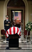 Former President Gerald R. Ford lies in repose in front of the House Chamber at the United States Capitol Building, Saturday, December 30, 2006.