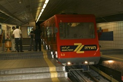 The Carmelit, currently Israel's only subway