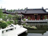 Traditional Chinese garden in Hangzhou (China)