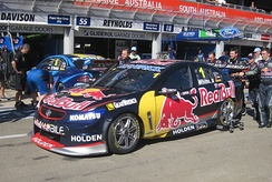 The Holden VF Commodore of Whincup at the 2013 Clipsal 500 Adelaide
