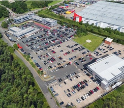 Aerial view of Headquarters in Walsall, England