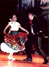 Traditional Mexican dance Jarabe Tapatío