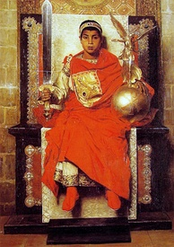 Emperor Honorius divided the empire into a western and an eastern part.