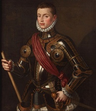 John of Austria in armour, by Alonso Sánchez Coello, 1567.