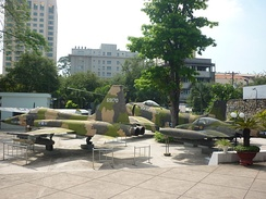 Captured South Vietnamese warplanes in Ho Chi Minh City