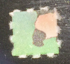 LSD on blotter, up close.