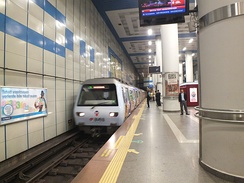 Levent station of the Istanbul Metro