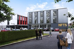 One of the new NFTS buildings to be opened in 2017 (Artists impression).