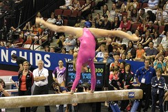 Nastia Liukin on the balance beam.