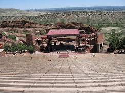 Red Rocks is a Denver park and world-famous amphitheater in the foothills