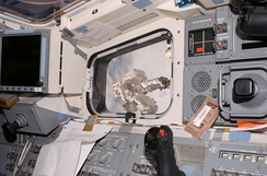 A window on Endeavour's aft flight deck