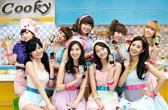 Girls' Generation in a commercial for LG Cooky Phone in 2010