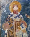 Saint Sava, beginning of the 14th century (1307–1309), fresco from Bogorodica Ljeviška church in Prizren.
