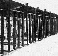 Photograph of steel cages