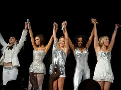 Spice Girls performing in 2007