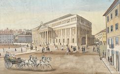 Queen Maria II National Theatre was built in 1842.