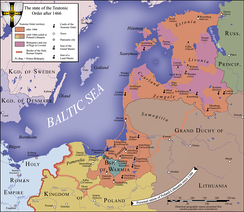 Map of the Teutonic state in 1466