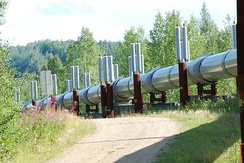 Trans-Alaskan Pipeline, approximately 10 miles north of Fairbanks, Alaska