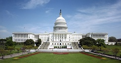 The United States Capitol is the seat of government for Congress.