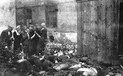 The corpses of victims of Stalin's NKVD murdered in the last few days of June 1941, just after the outbreak of war