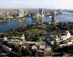 The Nile passes through Cairo, Egypt's capital city.