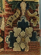 Closeup detail of a woven carpet, Germany, ca. 1540