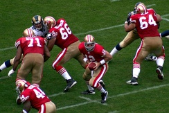 Trent Dilfer (#12) quarterbacks the 2007 49ers