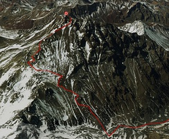 Aconcagua Summit Routeinteractive map