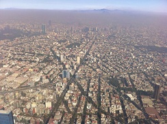 Situated in a valley, and relying heavily on automobiles, Mexico City often suffers from poor air quality.