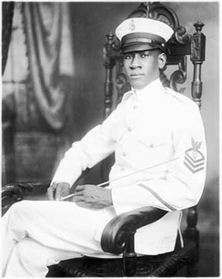 Alton Augustus Adams was the first African-American bandmaster in the United States Navy.