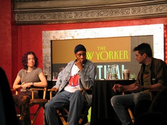 Ani DiFranco, RZA, and Steve Albini at The New Yorker festival in September 2005.
