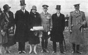 The dignitaries present for the founding ceremony for the new College Hall building in 1929.