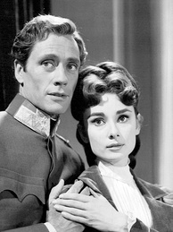 With first husband Mel Ferrer in Mayerling