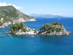 The island of Panagia off the coast of Parga.