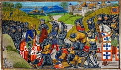 Battle of Aljubarrota between Portugal and Castile, 1385
