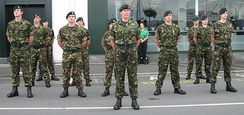 Cadets during parade and church service in Saint Peter Port, Guernsey, 16 September 2012