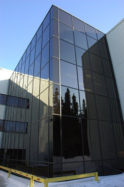 The Consortium Library, built in 1973, and enlarged and renovated 2002–2004, serves both UAA and nearby Alaska Pacific University.