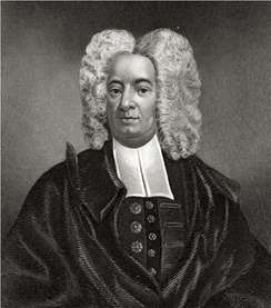 Cotton Mather, influential New England Puritan minister, portrait by Peter Pelham