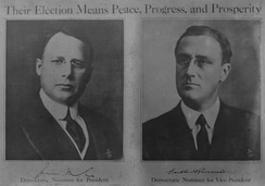 Poster for the 1920 Democratic presidential ticket
