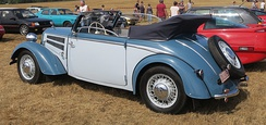 DKW F8 Cabriolet viewed from behind