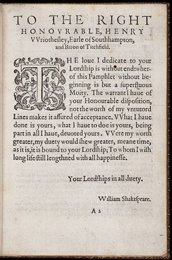 Shakespeare's printed signature as it appears in The Rape of Lucrece, printed by fellow Stratfordian Richard Field