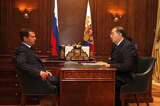 С Дмитрием Медведевым, 2008 год