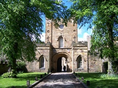 The entrance to Durham Castle, substantially altered in the 18th and 19th centuries.[32]