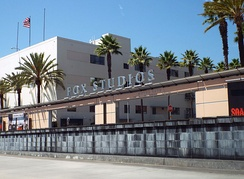 The entrance to 20th Century's studio lot
