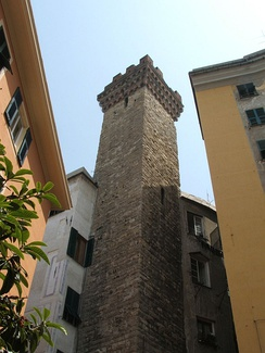 The Embriaci Tower in Genoa
