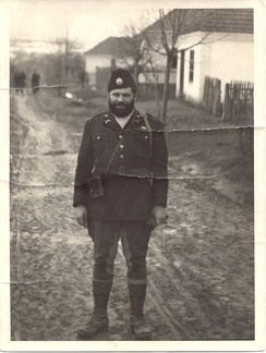 OSS 1st Lieutenant George Musulin behind enemy lines in German-occupied Serbia, as a Chetnik, during his first mission in November 1943. His second mission was Operation Halyard.